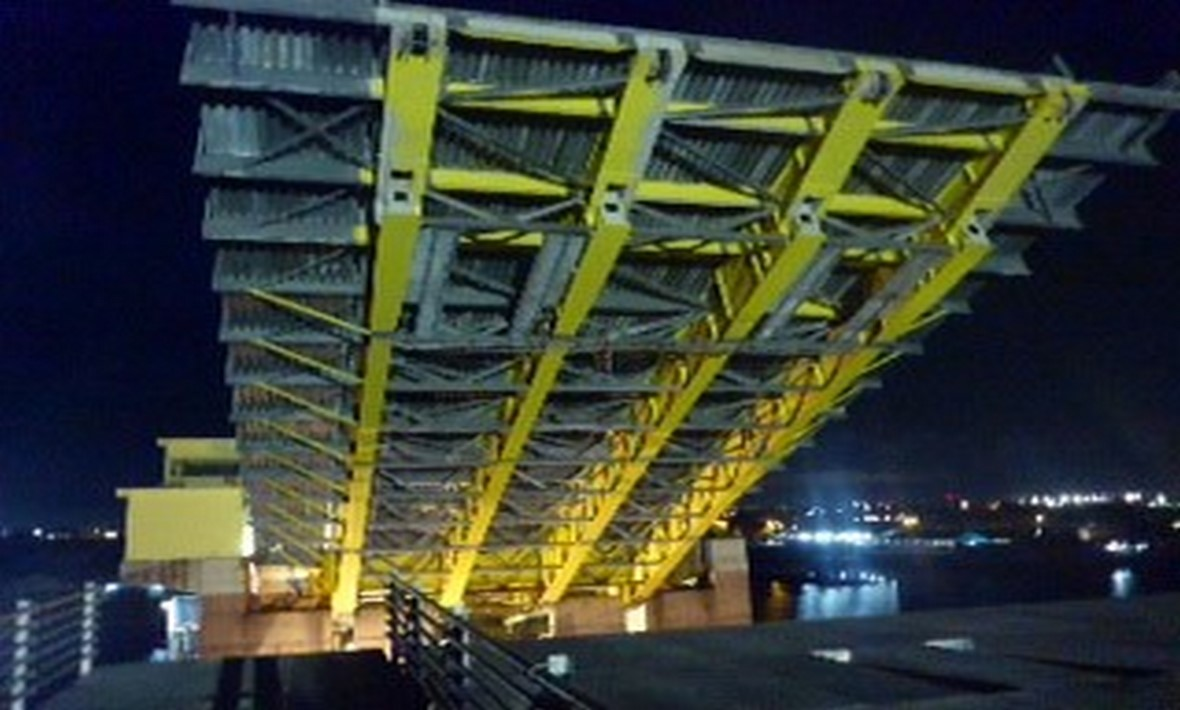 Installation of Baturusa bascule bridge | Indonesia
