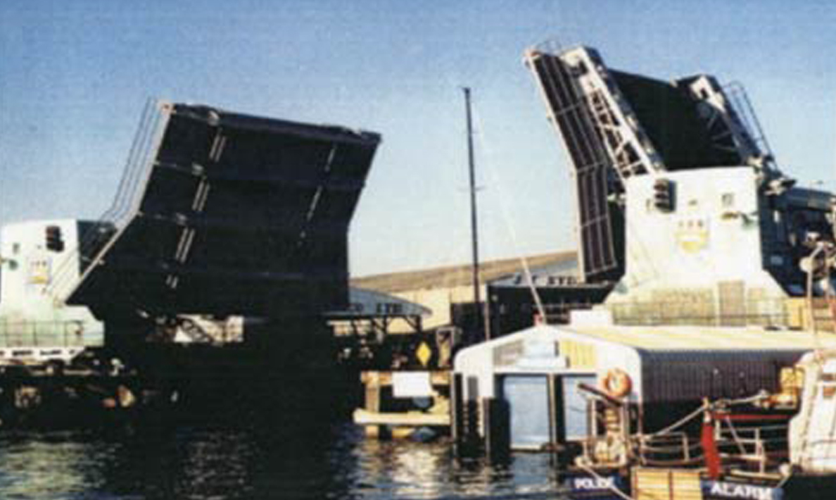 Overhaul of bridge drive mechanism including provision of rolling racks | Poole Harbour