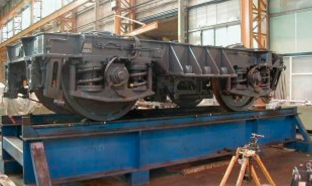 Fabrication of Channel Tunnel locomotive bogeys