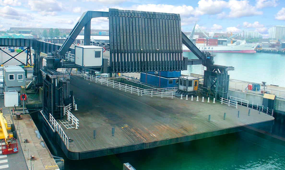 Complete new turnkey control system for the upper deck and viaduct 3 of Berth 3 Ro-Ro linkspan | Portsmouth