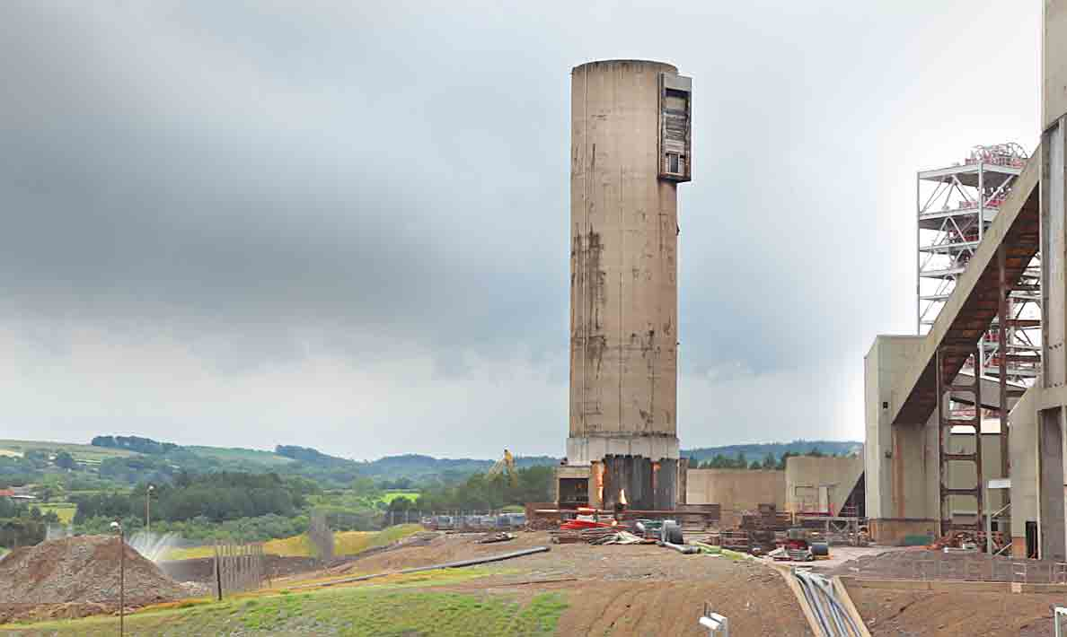 Demolition of old tower | Boulby Mine