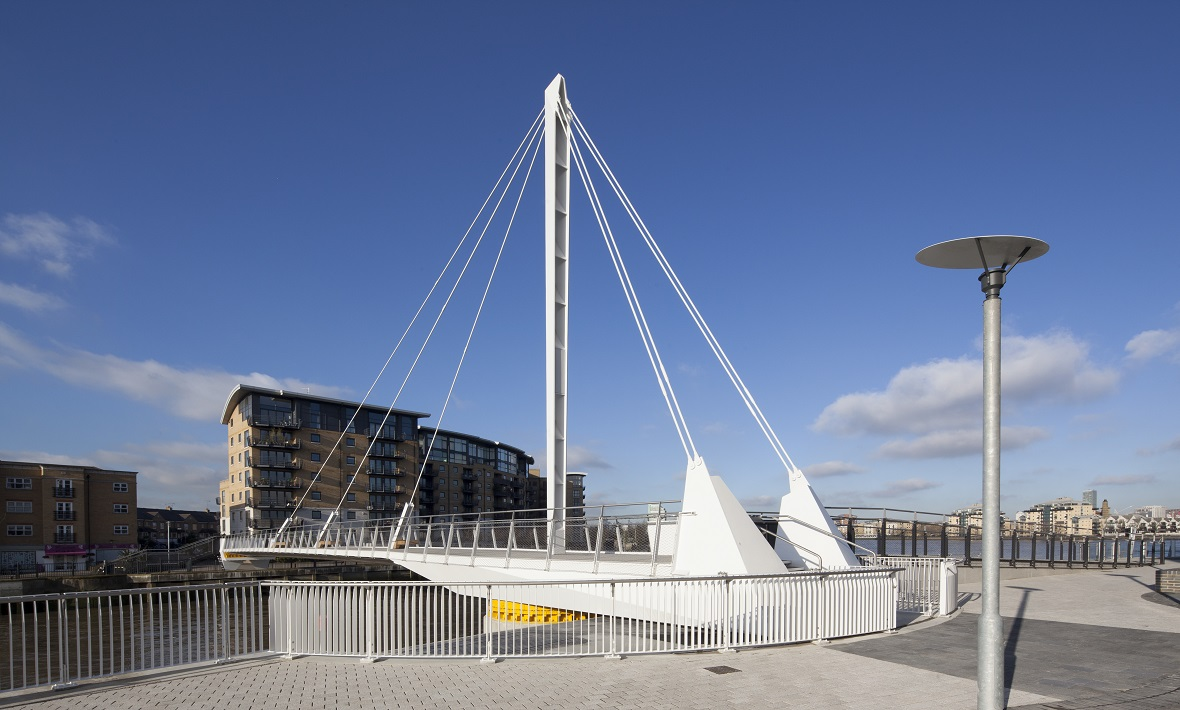 Operating and control systems for pedestrian swing bridge  | Greenwich