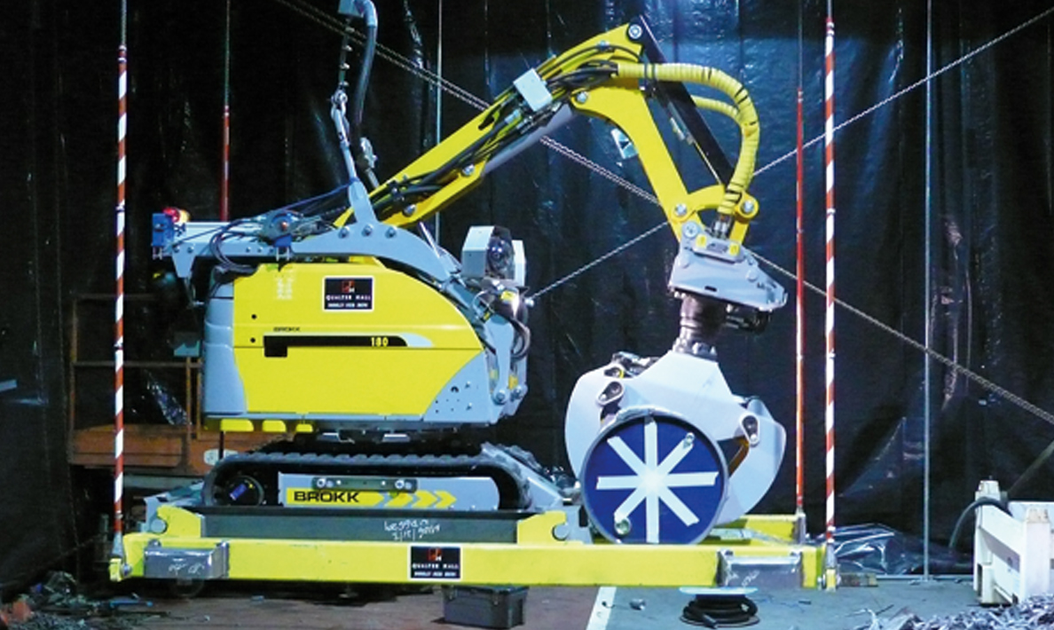 Nuclear waste vault retrieval machine under test at Qualter Hall - 7 of 7
