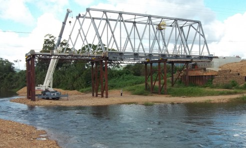 New bridge under construction | Kendal Bridge, Belize
