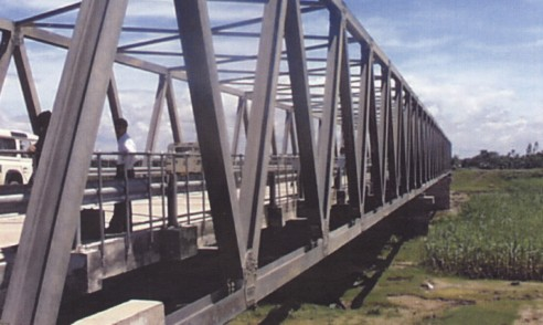 Modular steel bridge with concrete deck | Bangladesh