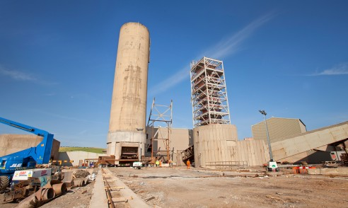 Cleveland Potash, new headgear under construction | Boulby Mine