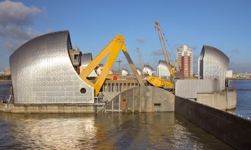 Thames Barrier - modifications and refurbishments by Qualter Hall
