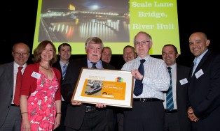 Project Team receiving the Award